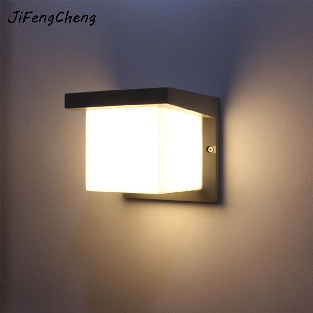 Jifengcheng открытый Водонепроницаемый настенный светильник светодиодный Современный простой спереди двор стены балкона проход бра Luminaria