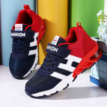 HOT Design Children Sports Shoes Boys Girls Spring Damping Outsole Slip Patchwork Breathable Kids Sneakers Child Running Shoes