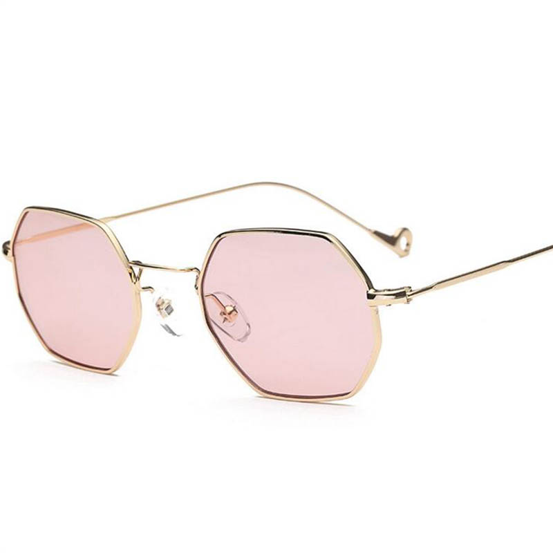 trends sunglasses small square frame polygon clear
