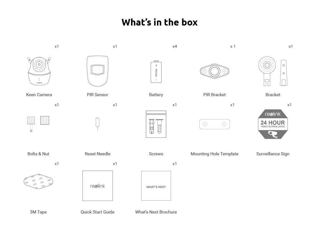 What's in the Box_reolink keen
