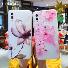 3D Relief Floral Cases For Huawei Mate 20 Pro Case P Smart 10Lite P20 Y7 Y9 2019 Frosted TPU Phone Covers