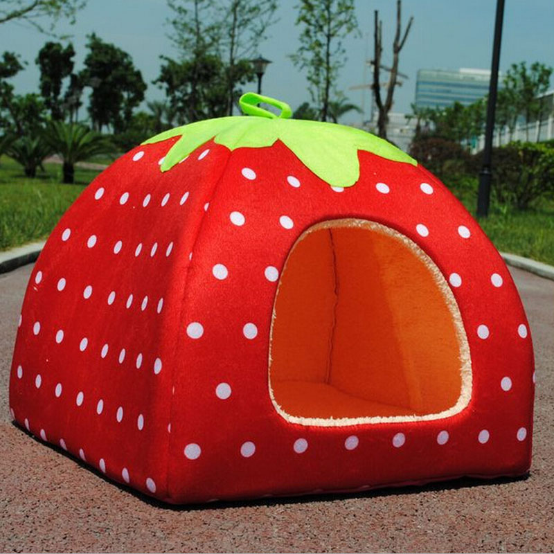 er Soft Strawberry Dog Cat Bed House Kennel Pets Doggy Warm Cushion Basket Pet Animals House Beds Dog Accessories-in Houses Kennels u0026 Pens from Home ... & er Soft Strawberry Dog Cat Bed House Kennel Pets Doggy Warm ...