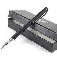 Authentic Gift Pen With Box 0 5 Mm High Grade Roller Pen Arenaceous Black Metal Felt
