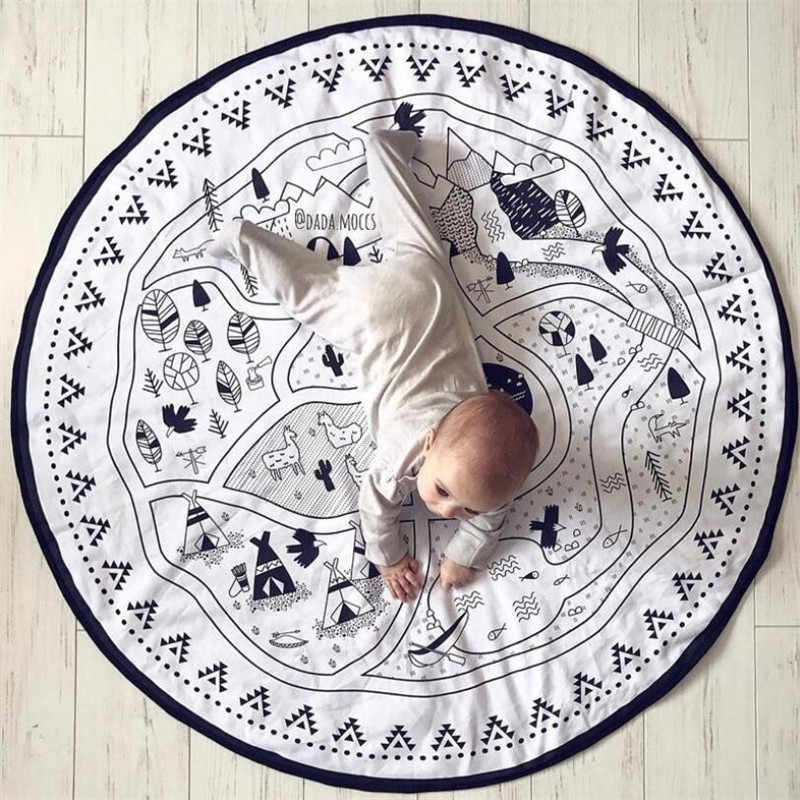 Baby DIY Round Play Mat kids Play game Crawl Mat Floor Carpet Photo Props Kids Room Decoration