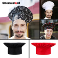 Free Shipping Cook cap checkedout working cap unisex chef cap