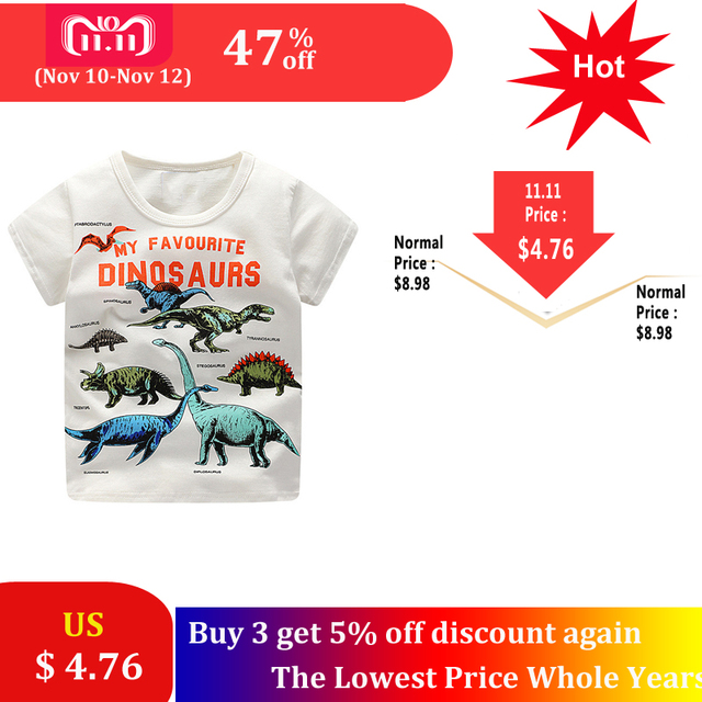 46017b03dd73 Aliexpress.com   Buy SAILEROAD 2 8Years Cartoon Dinosaur Print Baby ...
