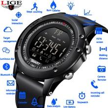 Купить с кэшбэком 2019New Smart Watch digital watch Men Bluetooth Pedometer Waterproof Digital LED Electronics Sport Watch for Android ios+Box
