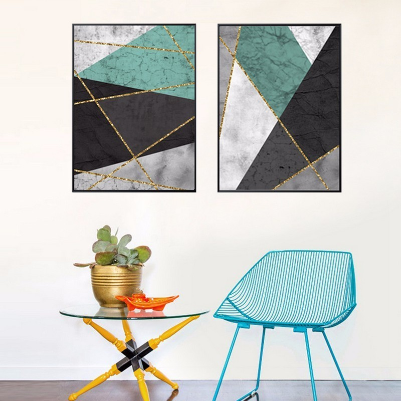 Abstract Geometric Canvas Paintings Multi Color Nordic Poster Print Wall Art Pictures For Living Room Office Home Decor unframed