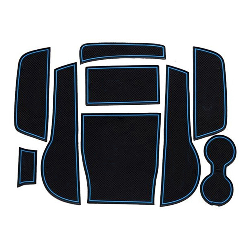 Car Styling Non slip Interior door pad cup mat door gate slot mats for Audi A3 2014 2015 auto car styling accessories 9 pcs