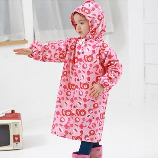 2-6 Years Old Kids Rain Coat Cartoon Bears And Sweets Children Raincoat Kids Girls Waterproof Cute Animal Rainwear