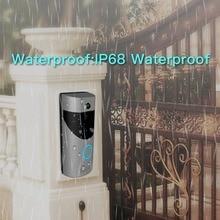 WiFi Video Doorbell Camera IP68 Waterproof 720P Real-Time Video Two-Way Talk Night Vision PIR Motion Detection