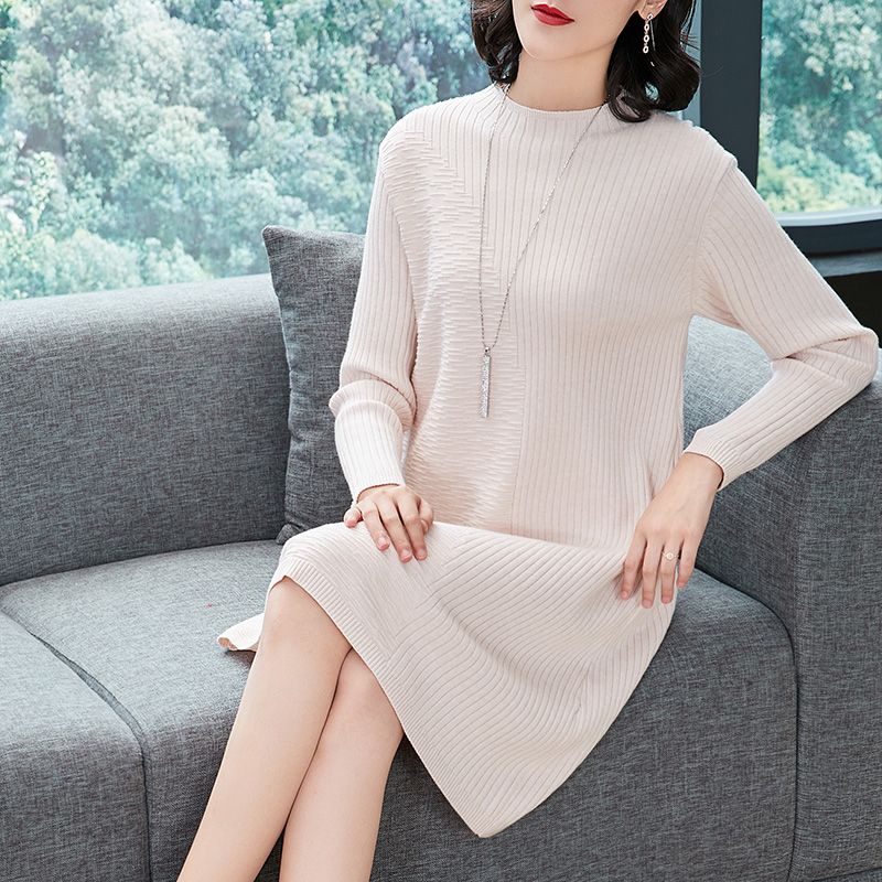 Women Sweater Dress New Arrival 2018 Autumn Winter Female Long Knit Dress Pullover Sweater Free Shippping