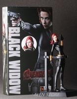 ALEN 22cm Marvel Anime The Avengers 2 Black Widow Garge Kits Super Hero Black Widow Action