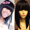 best sell peruvian straight virgin hair full lace wigs 12inch bob lace wigs with chinese bangs full lace hair wigs free shipping