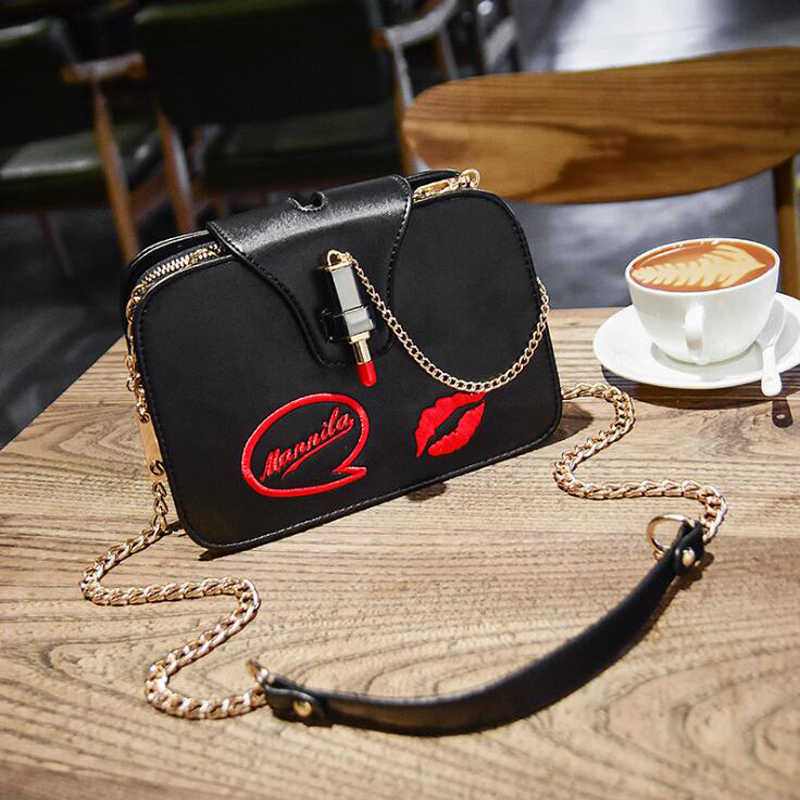 ... Women Bag Leather Fashion Messenger Bags Red Lip Shoulder Bags Female  Handbags Women s Totes Crossbody White ... 61939d53d5885