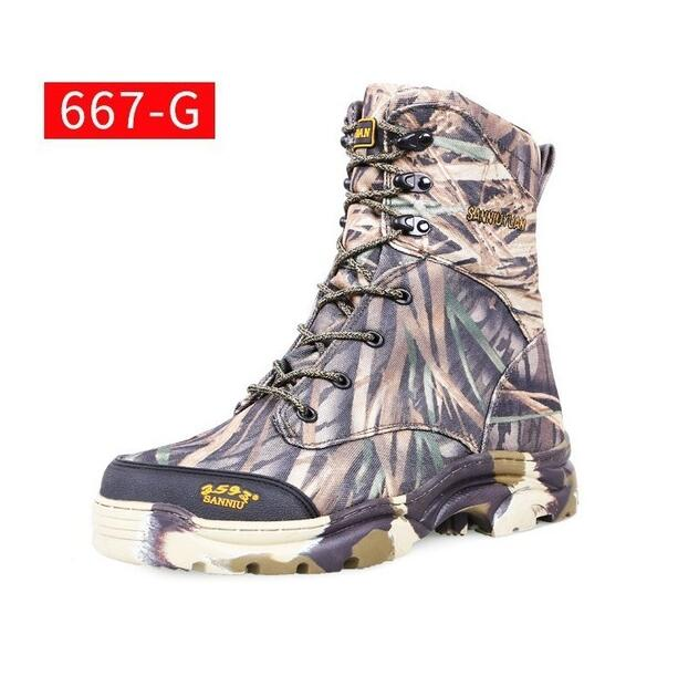 Mens Army Training Tactical Combat High Boots Outdoor Bionic Camouflage Hunting Desert Jungle Climbing Hiking Shoes Size 39-47