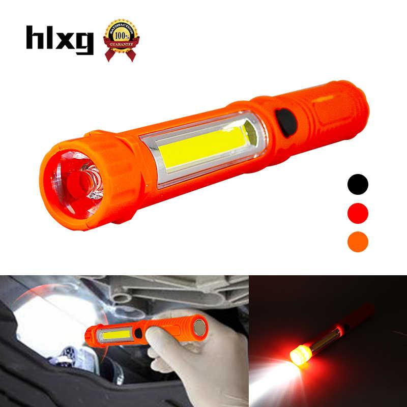 Hlxg 1 adet Torch Mini LED ışık el el feneri araç muayene tamir araçları çok fonksiyonlu COB LED mıknatıs otomatik acil durum lambası