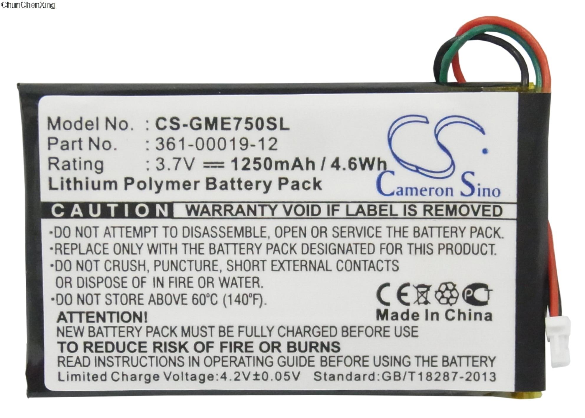 Cameron sino bateria de 1250mah 361-00019-12 para garmin edge 605, 705