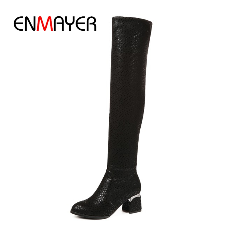 ENMAYER  Round Toe  Over-the-Knee Slip-On  Stretch Fabric  booties shoes  women boots  thigh high boots   Size34-40  ZYL1647ENMAYER  Round Toe  Over-the-Knee Slip-On  Stretch Fabric  booties shoes  women boots  thigh high boots   Size34-40  ZYL1647