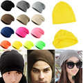 13x Hot Unisex Men Women Winter Warm  Knit Hip Hop Cool Hiphop Cap Beanie Hat Cotton Blends Beanie 13 Color
