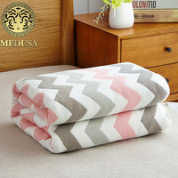 Medusa 100% cotton sateen chevron aqua quilted bedspreads full double size 1pc pack