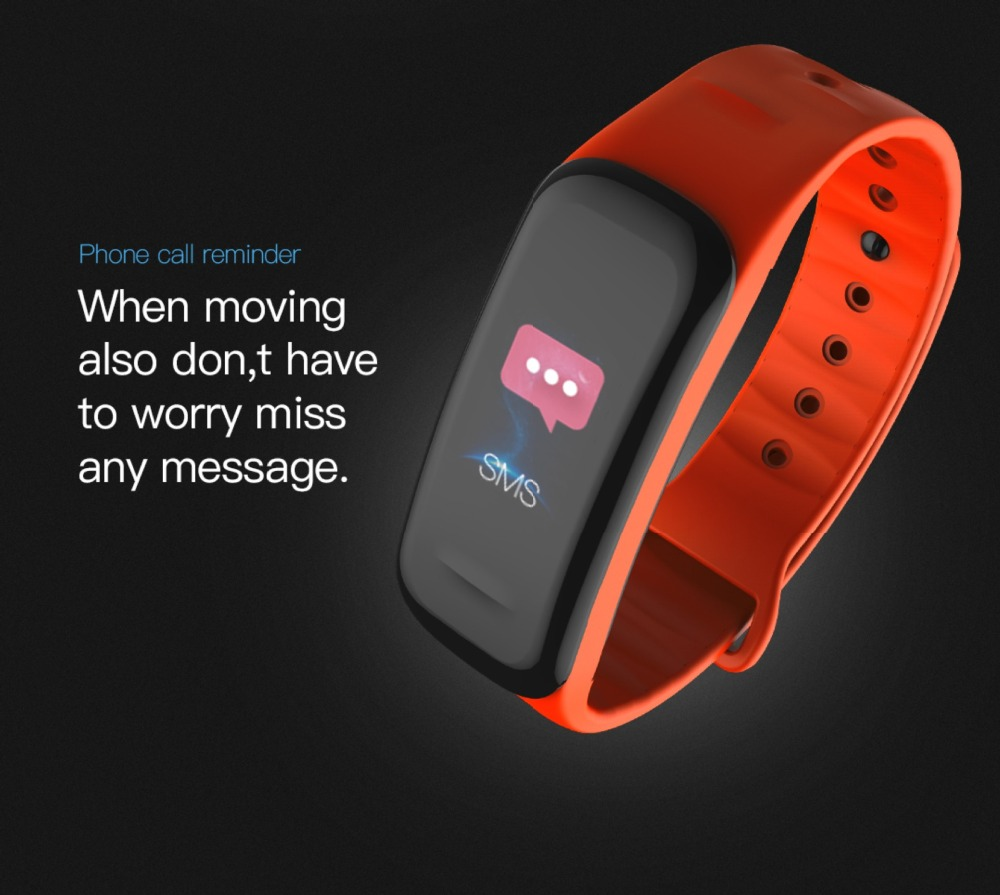 Image 5 - C1 Smart Bracelet fitness bracelet Dynamics Color Screen Waterproof Activity Heart Rate Monitor Blood Pressure Measurement-in Smart Wristbands from Consumer Electronics