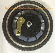 8 дюймов 8,5 »колесо с бескамерной шиной без двигателя нет необходимости воздуха 45 мм Открытие для электрического скутера e-велосипед складной велосипед Педальный скутер