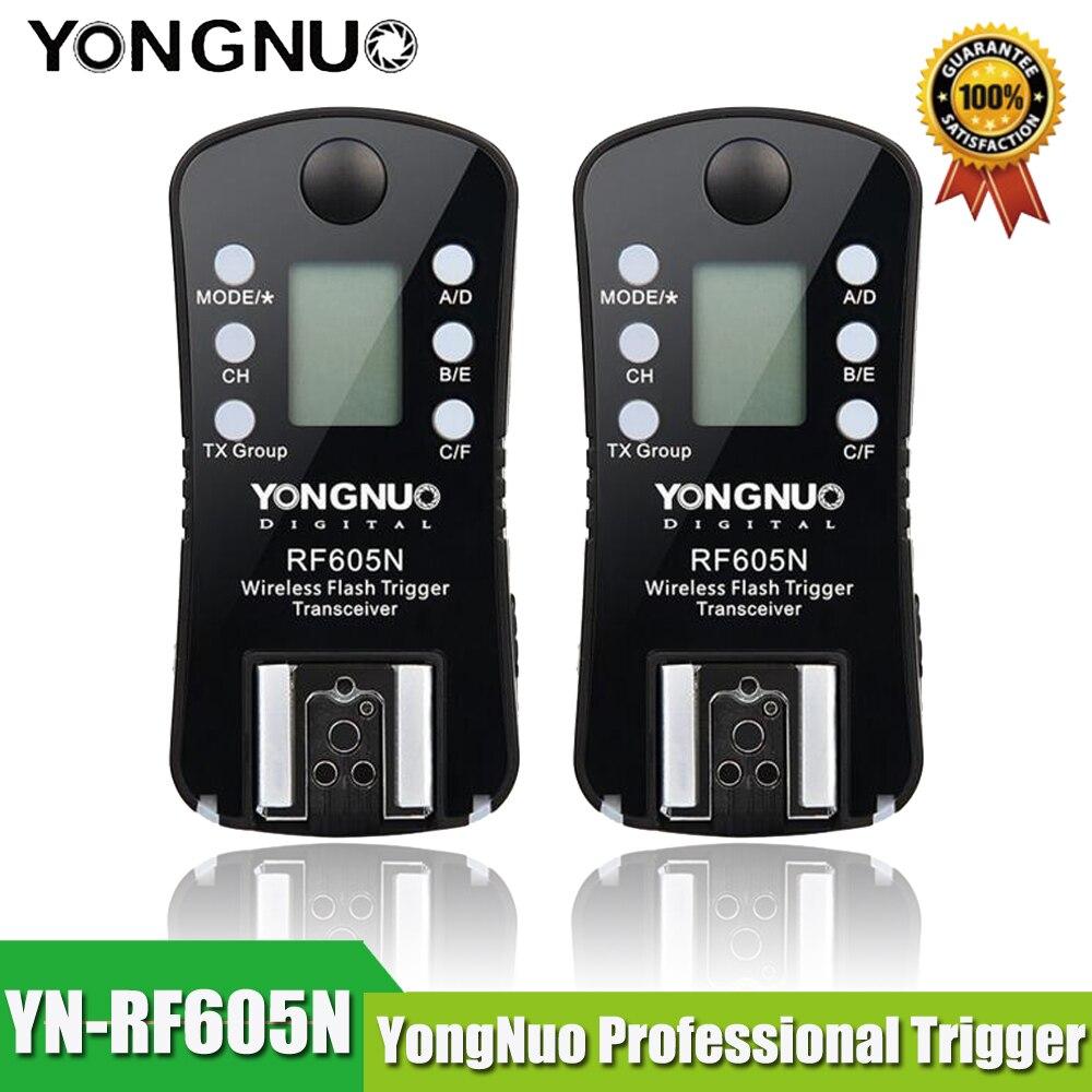YONGNUO RF-605N Émetteur-Récepteur RF 605N RF605N YN 605N Déclencheur Flash Sans Fil pour Nikon D7100 D7000 D5200 D5100 D5000 D3100 D90 D80