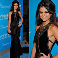 Selena Gomez Halter Golden Beaded Open Back Black Velvet Mermaid Black Formal Celebrity Dresses Special Occasion Dress