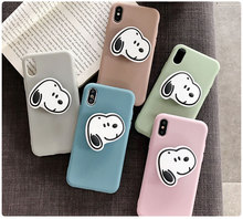 3D Dog cartoon Phone Cases For iphone 11 pro XS MAX matte soft silicone case XR X 6 6s 7 8plus with kickstand