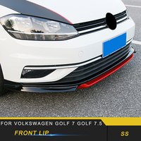 For Volkswagen Golf 7.5 Car Styling Car Front Lip Chin Bumper Body Kits Deflector Spoiler Splitter Diffuser