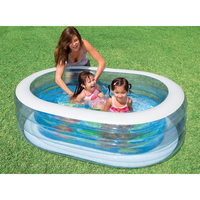 Bébé, enfant, enfant piscine 163*107*46 cm d'été jouer gonflable piscine bel animal imprimé étage fond piscine