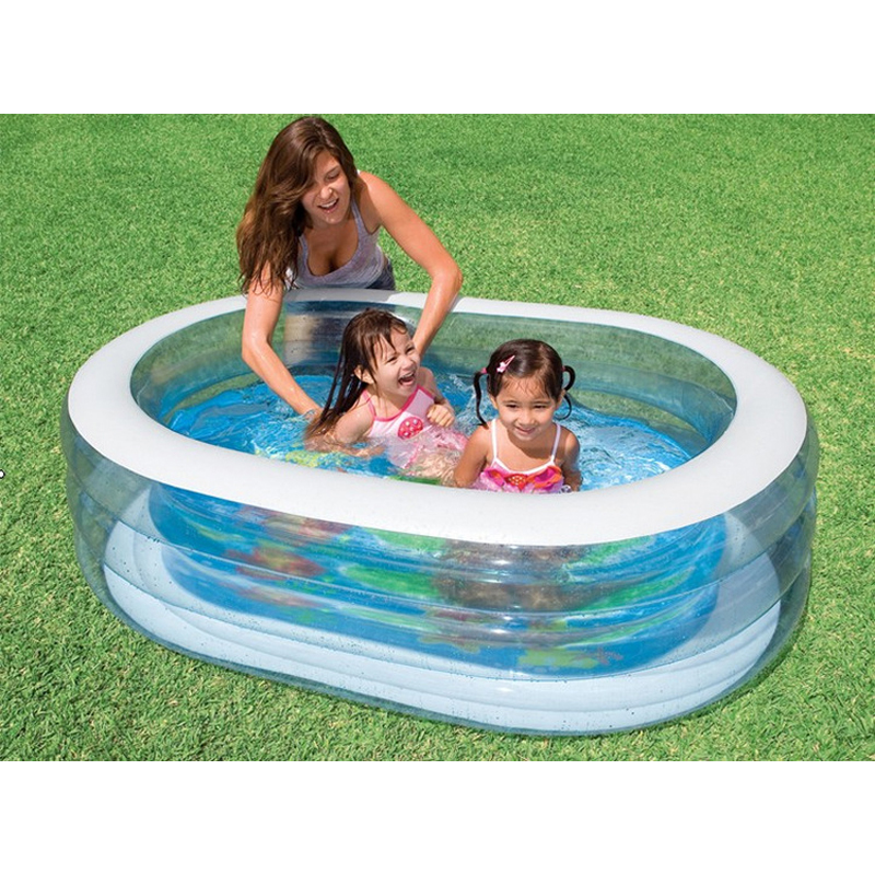 baby child kid swimming pool 163*107*46cm summer play inflatable pool lovely animal printed floor bottom swimming pool B31002 environmentally friendly pvc inflatable shell water floating row of a variety of swimming pearl shell swimming ring