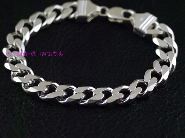 478fa41f07ac Excellent Fashion classic Italy 925 Sterling Silver Bracelet flat chain  file XD31