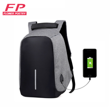 USB зарядка anti theft рюкзак Для мужчин и Для женщин Путешествия безопасности Водонепроницаемый Школьные сумки Колледж подростков мужской девушка 15 дюймовый ноутбук рюкзак