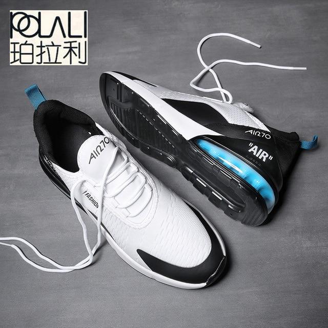 fed5966b9d7 POLALI Men Air Cushion Casual Shoes Men Trend Breathable Sneakers Luxury  Light Air 270 Lace Up Fashion Unisex Shoes Men size 46