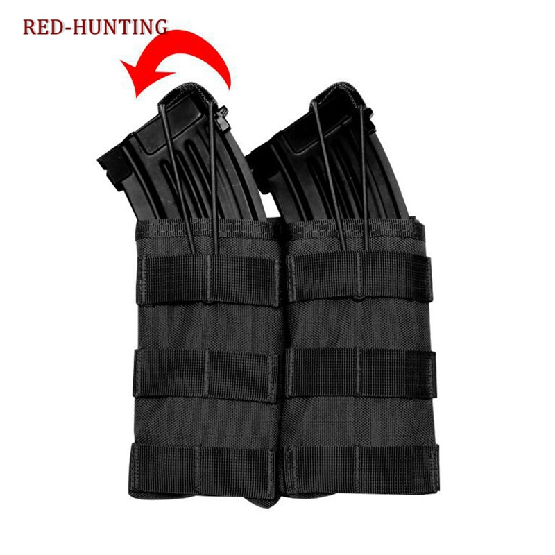 Hot Sale M4 M16 AR-15 Type Magazine Pouch Mag Holder Double Airsoft MOLLE Mag Pouch image