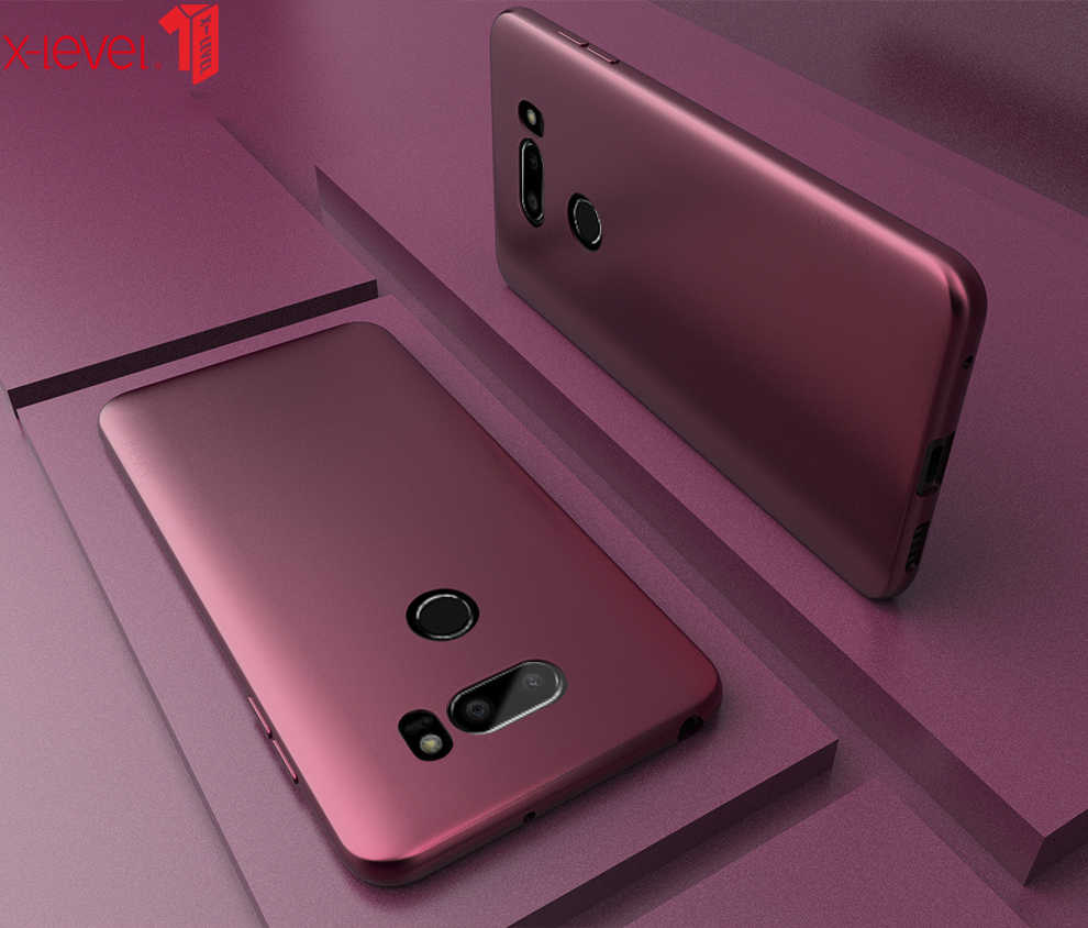 X-Level Ultra Thin Case For LG V30 V50 G6 G7 G8 ThinQ Cases Matte Touch Soft TPU Shockproof Back Phone Cover For LG V40 V50 Case