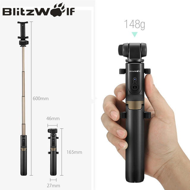 2 in 1 Selfie Stick & Tripod For iPhone and Samsung