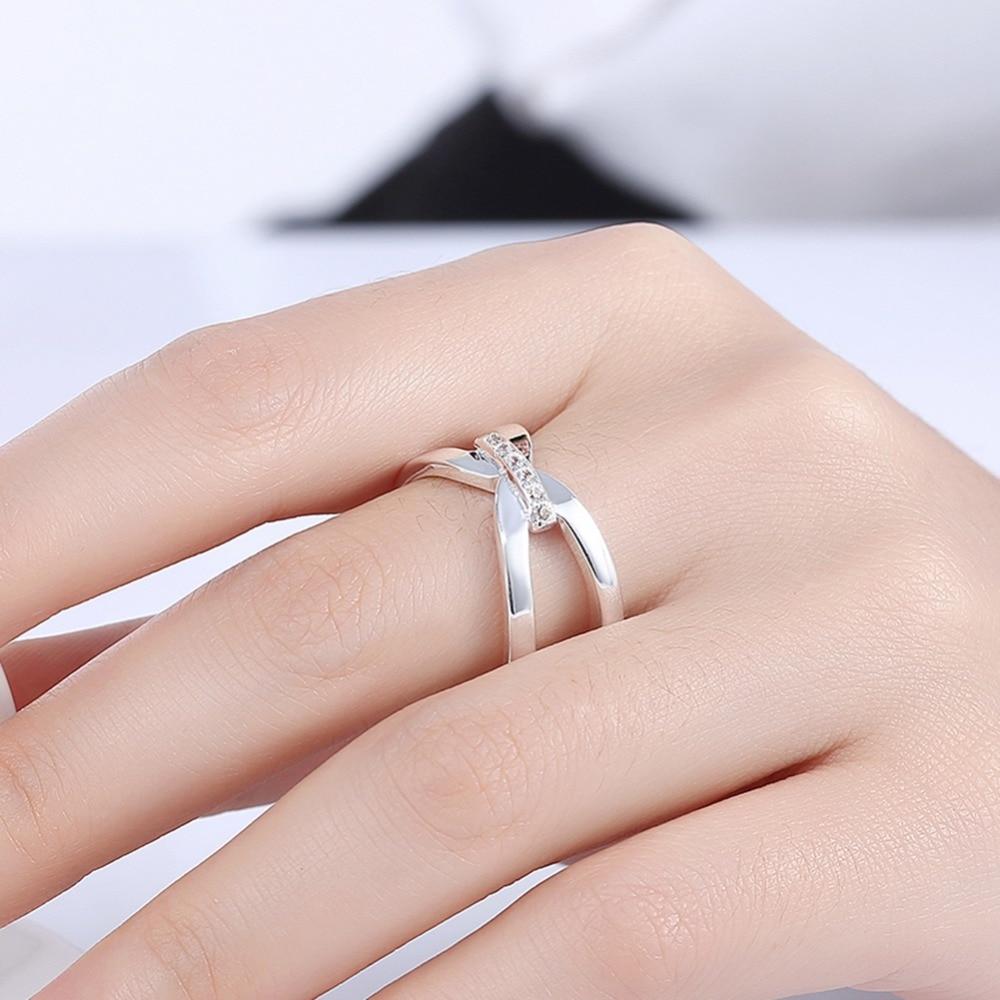 Free shipping hot silver jewelry geometric modeling modern style ...