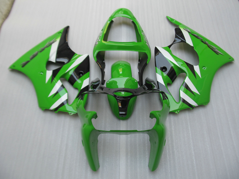 Injection Mold Fairings For Kawasaki zx6r 2000 2002 2001 00 01 02 plastic full parts green Fairing Kit t16 microwave oven parts plastic injection mold cnc machining household appliance mold