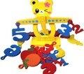 Frete Grátis! Brinquedos Educativos de Madeira Brinquedos Do Bebê Urso Digital de Frutas Jogos de Equilíbrio Criança a Aprendizagem Precoce de Brinquedos de Presente para o bebê