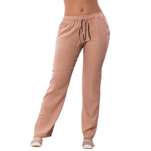 Plus Size Women Solid Trousers 4XL 5XL 6XL Elastic Waist Cas