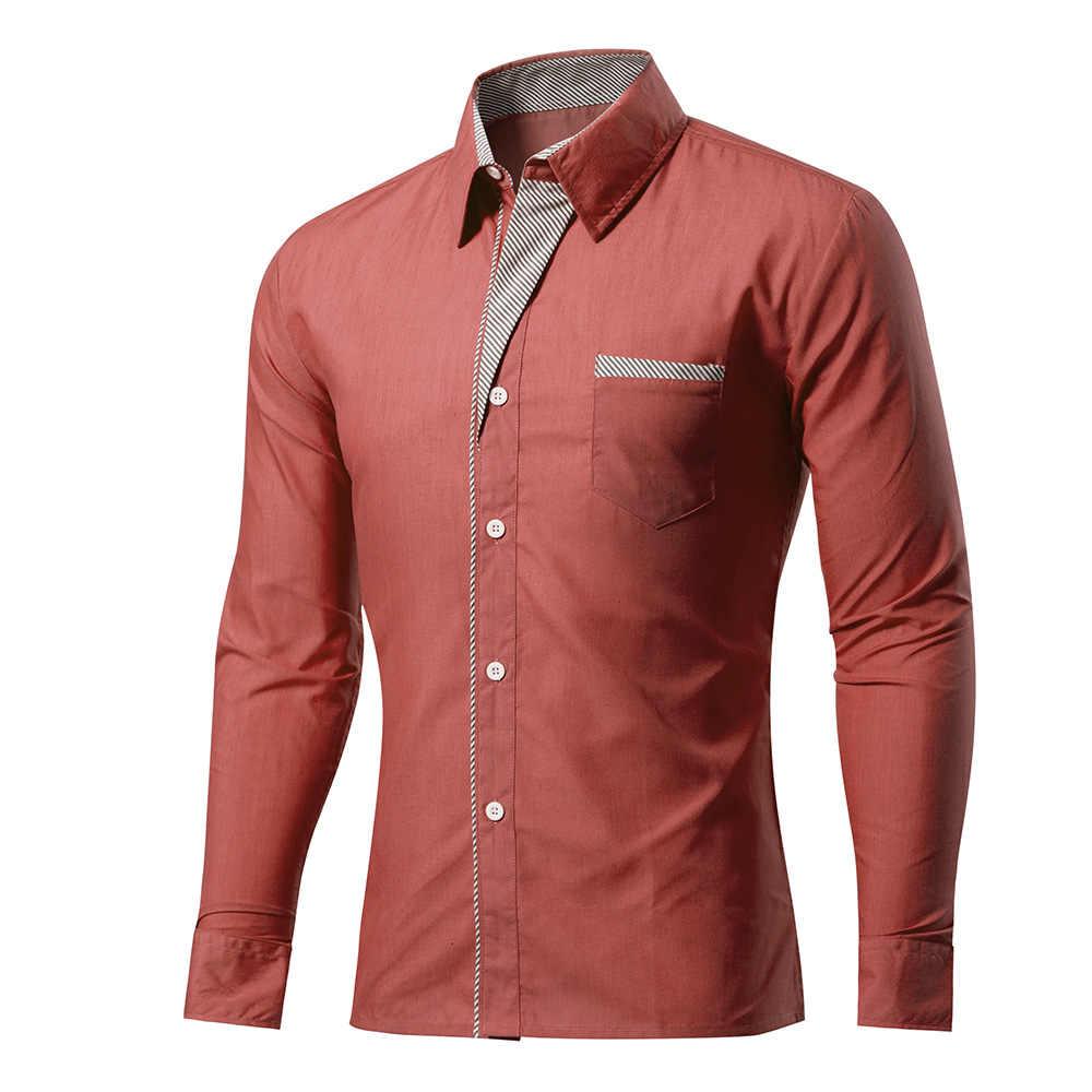 Мужская рубашка, бренд 2019, мужские рубашки высокого качества с длинными рукавами, повседневные облегающие черные мужские рубашки, большие размеры 4XL, Прямая доставка