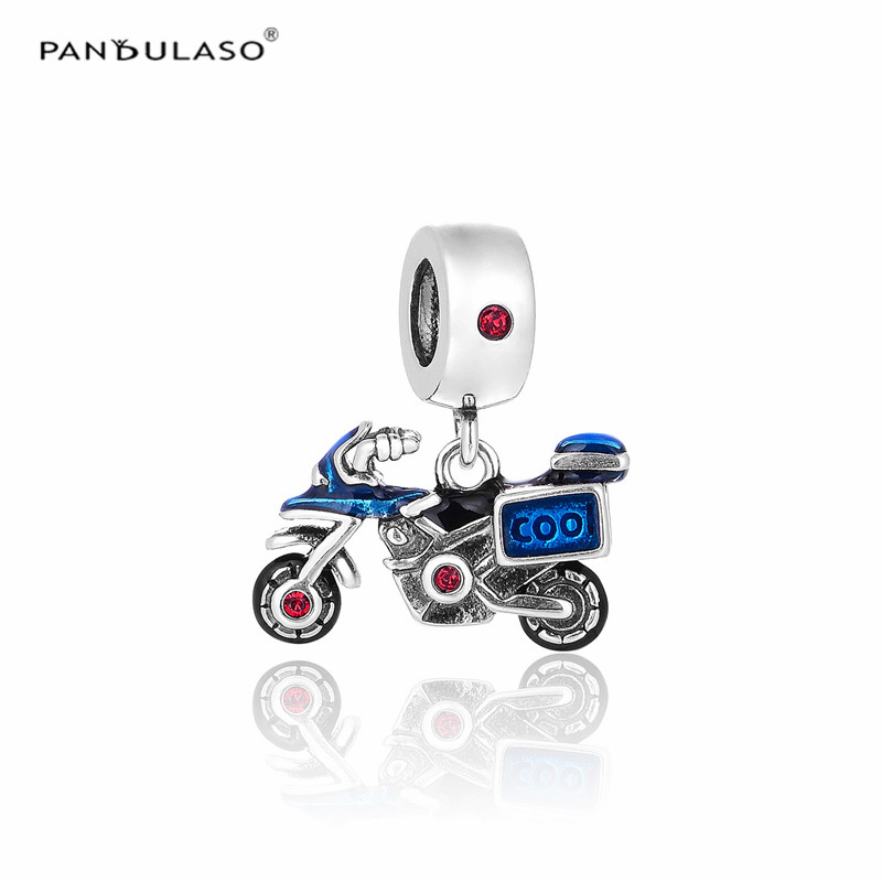 652905966 order pandulaso motorcycle crystal blue enamel beads fit charms silver 925  original bracelets diy beads for