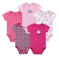 5 pçs/lote da Roupa Do Bebê Do Bebê Das Meninas Dos Meninos Pijamas Roupa Corpo Do Bebê Do Algodão Recém-nascidos Bodysuits Vestuário Infantil