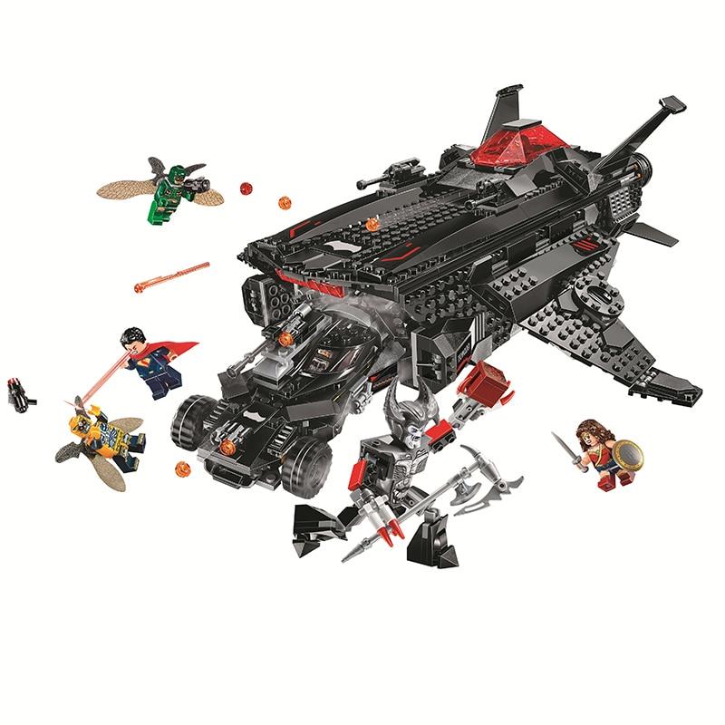 Bela Compatible legoe Marvel Batman volant Fox Batmobile attaque de transport aérien Avengers Infinity War Super héros blocs de construction briques