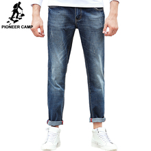 بايونير كامب جينز الرجال ماركة الملابس عالية الجودة ضئيلة الذكور سراويل تقليدية جودة القطن سراويل جينز للرجال 655122