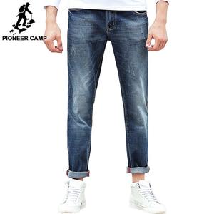 Image 1 - Pioneer Camp Jeans männer marke kleidung hohe qualität Schlanke männlichen Casual Hosen Qualität Baumwolle Denim hosen Für Männer 655122