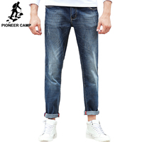 Pioneer Camp Jeans Men Brand Clothing High Quality Slim Male Casual Pants Quality Cotton Denim Trousers